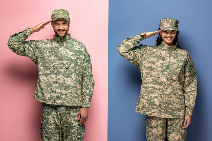 Military couple met on dating site for profesionals