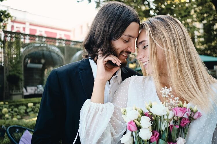 Beautiful, young couple is enjoying christian dating experience