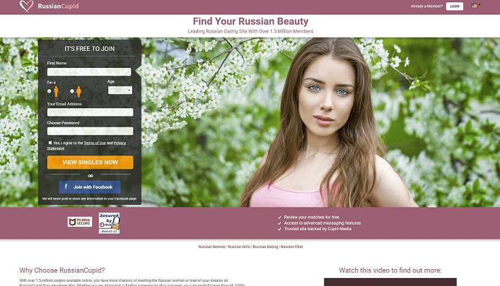 Russian Cupid Homepage beautiful Russian young woman posing sensually