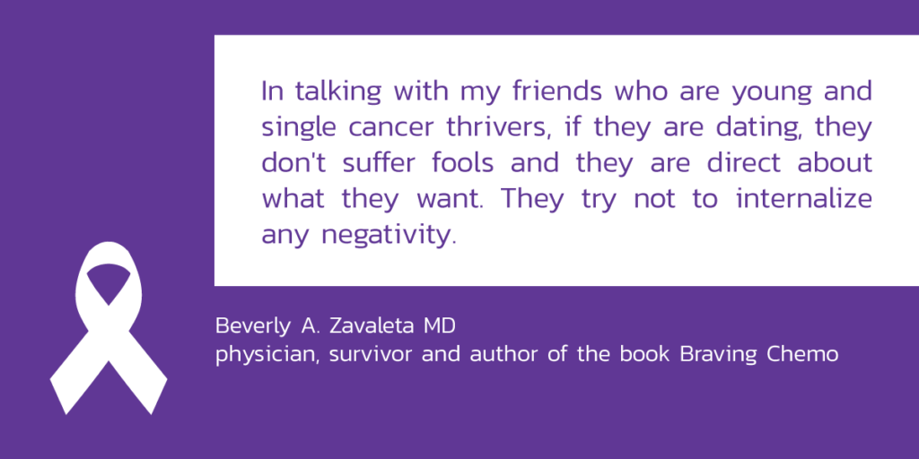 quote graphic nr 2 from a physisician and cancer survivor