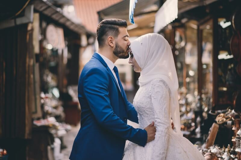 islamic couple have just married