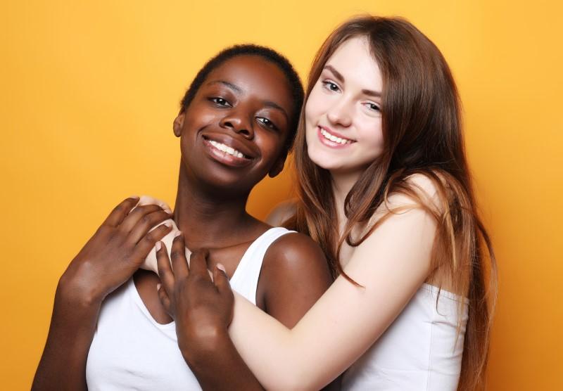 interracial lesbian couple
