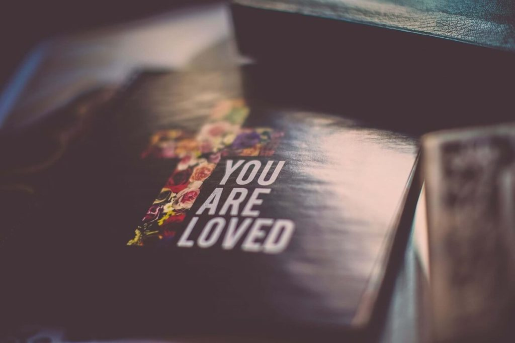 "Religious Christian book that says ""You are loved"""