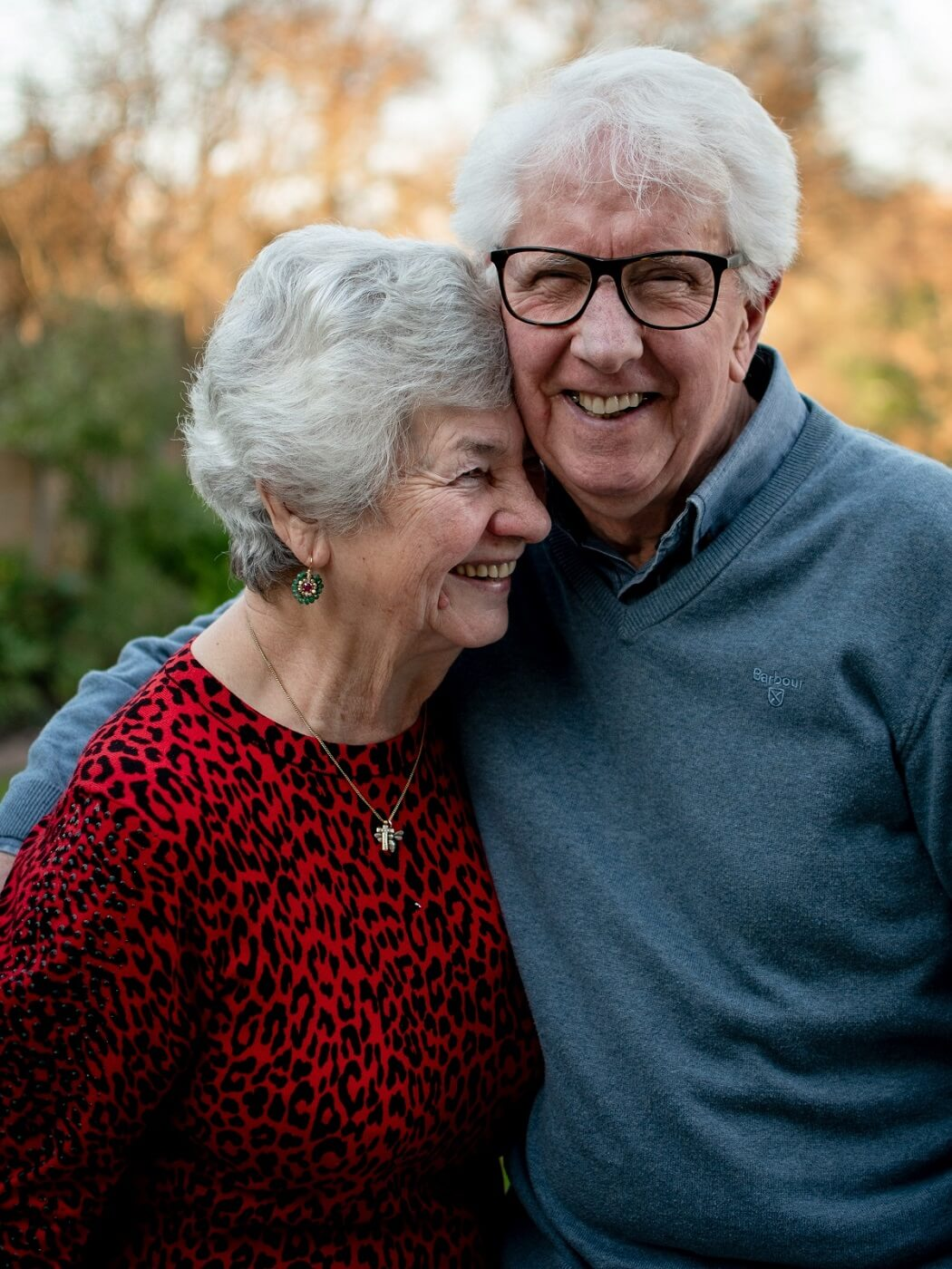 couple smiling after having an aurgment