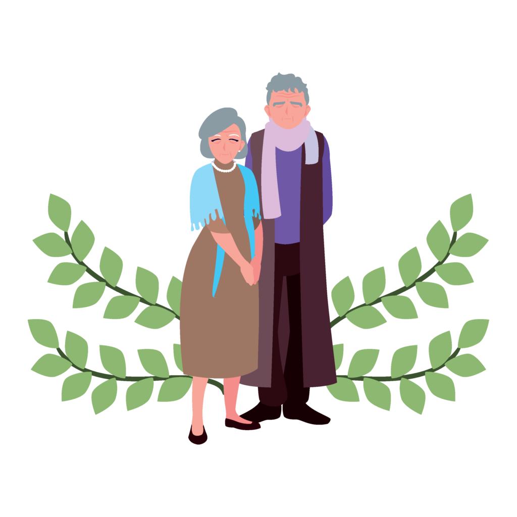 art image of senior couple