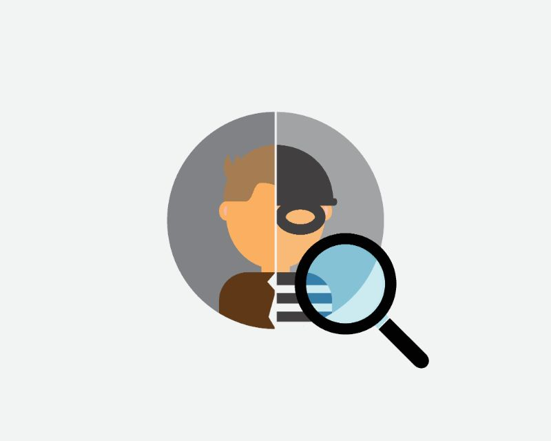 illustration of someone's identity being checked