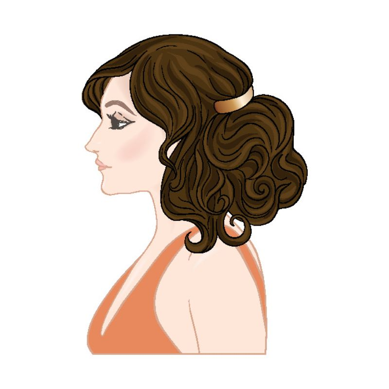 illustrated woman's profile