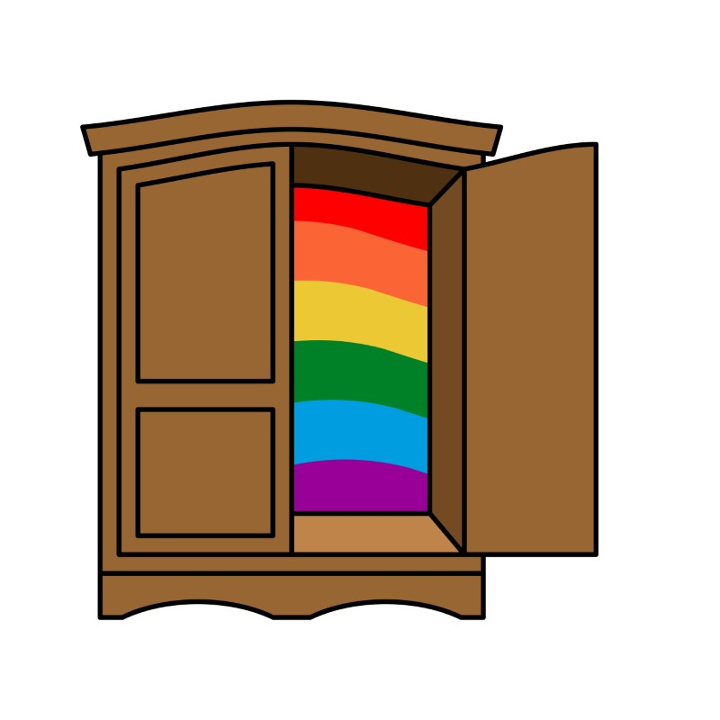 vector art of the closet